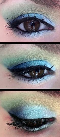 mother nature :: soft blue & green :: yay brown eyes! [hysteria makeup]