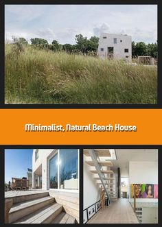 Rising out of the Westlandse Zoom dunes like a rock on the beach, this minimalist family home embraces natural inspiration in more than just design. Global A Cleaning White Walls, Beach Grass, Solar Heater, Like A Rock, Beach Rocks, Architect Design, Beach House Decor, Open Up, Exterior Design