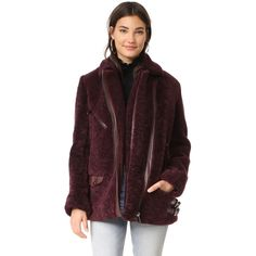 Nour Hammour Bastille Over-sized Perfecto Jacket ($2,519) ❤ liked on Polyvore featuring outerwear, jackets, oversized jacket, pocket jacket, oversized fur jacket, fleece-lined jackets and shiny jacket