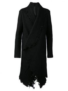 FORME D'EXPRESSION - Distressed Wrapped Coat - U142C081 SARB BLACK - H. Lorenzo