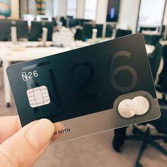 N26 bank Cd Design, Paper Design, Logo Design, Metal Business Cards, Business Card Design, Credit Card Design, Member Card, Atm Card, Plastic Card