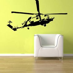 BLACKHAWK HELICOPTER US ARMY Removable Wall Art Decor Vinyl Sticker Decal 4FT | eBay