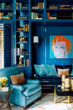 Eclectic Living Room with Jonathan adler delphine cocktail table, Knoll platner side table