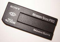 Sony Memory Stick PRO con MagicGate, de 256MBytes
