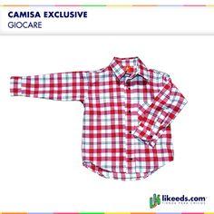 #Camisa cuadrillé #Moda #Folk #Niños  Para ver talles y comprar ¡Hacé click en la imagen!