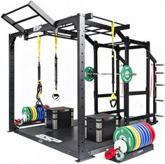 ESP Fitness Functional Frame ( Rig ) - The World's most functional and versatile high performance training frame transforms a standard lifting station into a high performance training area. The robust Functional Frame bolts neatly onto the Power Rack and Crossfit Home Gym, Crossfit Equipment, Home Gym Equipment, No Equipment Workout, Outdoor Fitness Equipment, Home Gym Garage, Gym Room At Home, Basement Gym, Gym Workouts