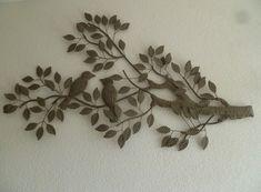 Metalen wanddecoratie Birds in Tree - Muurdecoratie Bomen - WANDDECORATIE METAAL | DEKOGIFTS
