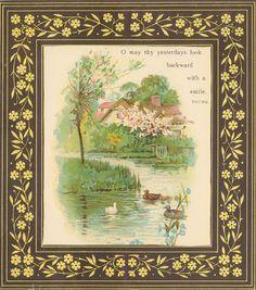 A Vintage Cottage Home: vintage postcards