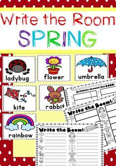 FREE Spring Themed - Write the Room | KindergartenKlub.com ...