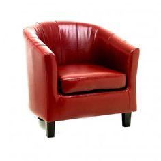 Red Tiffany Tub Chair