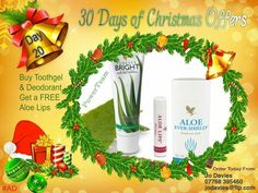 Stocking fillers or a personal care pamper gift…. our infamous tooth gel, deodorant is offered today with a beautiful aloe lips free!! #giftyourself #30daysofxmas #ad #stockingfillers
