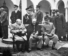Krim, Jalta 1945/02 - Winston Churchill  Franklin Roosevelt, Josif Stalin