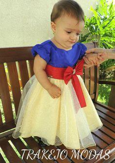 Vestido Branca de Neve Tamanho 1 ao 3 #VestidoFestaInfantil #VestidoMenina #VestidoBrancadeNeve #BrancadeNeve #PrincesaDisney #VestidoInfantil