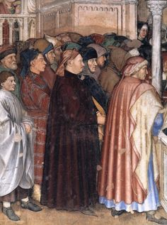 Altichiero - The Funeral of Saint Lucy. Detail. 1370
