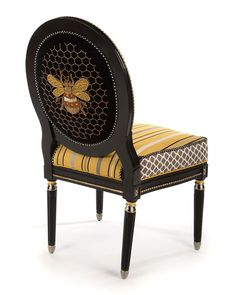 Shop Queen Bee Side Chair from MacKenzie-Childs at Horchow, where you'll find new lower shipping on hundreds of home furnishings and gifts. Plywood Furniture, Funky Furniture, Painted Furniture, Furniture Design, Furniture Ideas, Furniture Buyers, Furniture Chairs, Furniture Companies, Side Chairs