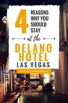 4 reasons why you should stay at the delano hotel las vegas - travel tips, travel ideas, travel destinations, luxury lifestyle inspiration, luxury living. Best Family Vacations, Family Vacation Destinations, Vacation Trips, Travel Destinations, Vacation Ideas, Vegas Vacation, Las Vegas Trip, Las Vegas Hotels, Delano Las Vegas