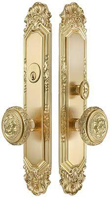 Antoinette Premium Mortise Entry Set with Louis XVI Round Knobs European Doors, Door Design, Door Sets, Gold Door Handles, Decorative Hardware, Gold Door, Vintage Door, Louis Xvi, Doors