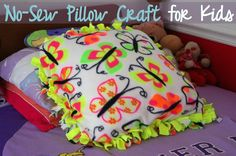 No-Sew Pillow Craft for Kids :) Summer project??