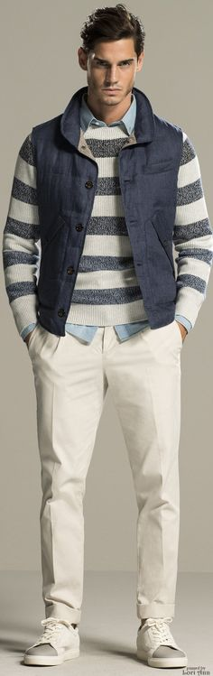 Brunello Cucinelli Spring 2016 | Men's Fashion | Menswear | Men's Casual Outfit | Moda Masculina | Shop at designerclothingfans.com