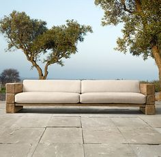 outdoor sofa - oak beams or sleepers