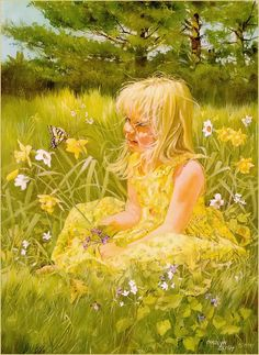 Figures Watercolour painting of artist Carolyn Blish – Best Watercolor Painting Photo D Art, Beautiful Paintings, Beautiful Images, Watercolour Painting, Watercolors, Body Painting, Daffodils, Amazing Art, Art For Kids