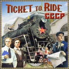 USSR (fan expansion for Ticket to Ride) Ticket To Ride, Game Tickets, The Expanse, Board Games, Comic Books, Fan, Comics, Nerd Stuff, Game Room