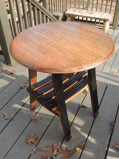Cork To Barrel: Oak Wine Barrel End Table with Shelf