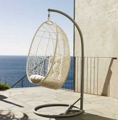 These are awesome!!!!!!!  (I especially like the one overlooking the ocean)    20 Hanging Hammock Chair Designs, Stylish and Fun Outdoor Furniture