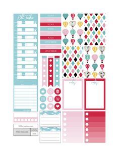 Hot Air Planner Stickers - Fit Life Creative