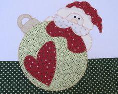 Pano de Prato Natal Papai Noel na Bola