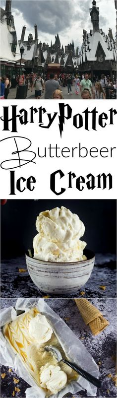 Satisfy your sweet tooth this summer with some homemade Butterbeer ice cream!