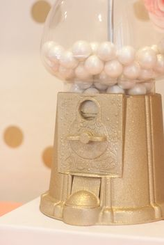DIY Glitter Gumball Machine. So cute!