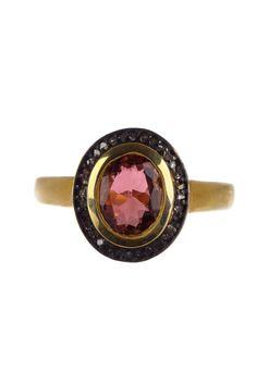 Nordstrom Rack US Oval Tourmaline Diamond Ring