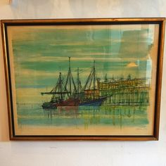 #MidCentury #JacometPrint #FishingBoats In #Venice  By #JeanCarzou -Click On Link For All Details