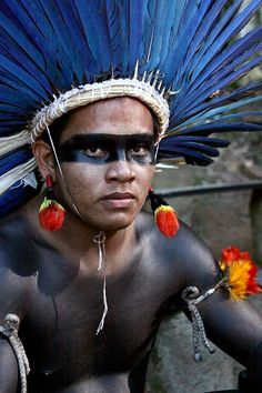 Young male member of the Kuikuros | Indigenous Tribe of Brazil