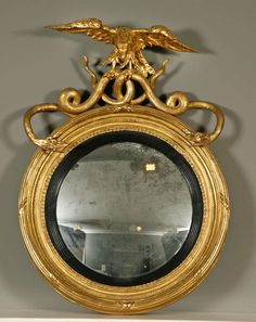 beautiful regency mirror - love the eagle and serpent detail!