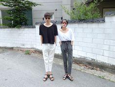 urbanKOREA Fashion Couple, Cute Fashion, Asian Fashion, Fashion Outfits, Summer Couples, Cute Couples, South Korea Fashion, Japanese Street Fashion, Couple Outfits