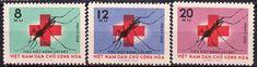 Vietnam - Red Cross postage stamps.
