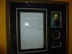 The signature of Paul I.  Dated 1800.  From the Imperial Russian collection of Will Kolb