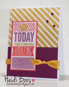 Stylin' Stampin' INKspiration: September Color Challenge
