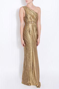 Metallic gold gown