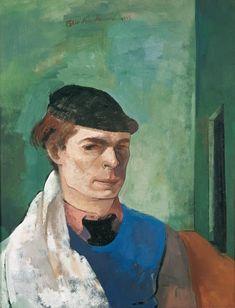 Felix Nussbaum  Self-Portrait with Painter's Cloth, 1935