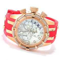 Invicta Reserve Women's Bolt Swiss Made Quartz Chronograph Strap Watch w/ 3-Slot Dive Case ShopNBC.com