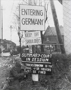 Crossroads at Lichtenbusch on the border of Belgium and Germany. 9/12/1944