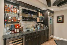 Convert Your Garage into a Man Cave - Man Cave Home Bar Wet Bar Basement, Basement Bar Designs, Home Bar Designs, Basement House, Basement Kitchen, Basement Bedrooms, Basement Bathroom, Man Cave Basement, Basement Ideas