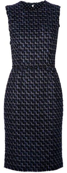 D Mixed Wool Dress