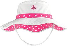 7e042544213 Coolibar UPF 50+ Baby Girls  Reversible Beach Bucket Hat - Sun Protective