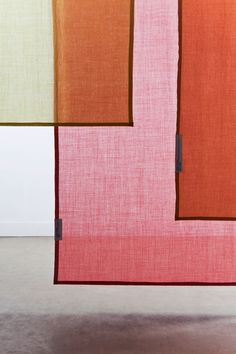 Tinctorial Textiles by Raw Color - curtain panels in semi translucent wool <3