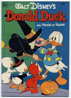 Donald Duck in Trick or Treat ~ my favorite Donald Duck Cartoon!