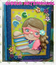 Portadas folders Candy Themed Party, Party Themes, Diy Notebook Cover For School, Diary Covers, Clay Ornaments, Mothers Day Crafts, Foam Crafts, Decorate Notebook, Book Cover Design